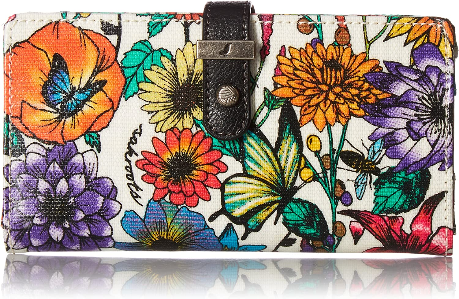 Sakroots Rae Slim Charging Wallet, Optic in Bloom