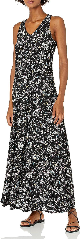 Gabby Skye Women's OFFicial shop Sleeveless Dress latest V-Neck Printed Maxi