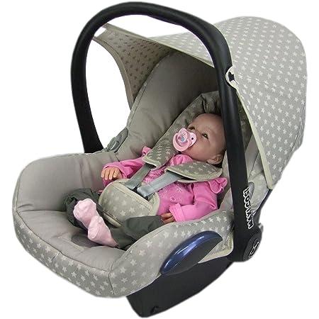 Bambiniwelt Ersatzbezug Für Maxi Cosi Cabriofix 6 Tlg Bezug Für Babyschale Komplett Set Sterne Beige Xx Baby