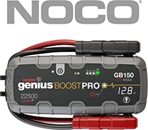 NOCO Boost Pro GB150 4000 Amp 12V UltraSafe Lithium Jump Starter Car Jump Starter for Petrol and Diesel Engines 10L