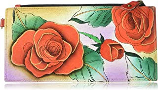 Anna by Anuschka Women`s Genuine Leather Organizer Wallet | Five Credit Card Holders