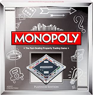 Monopoly Platinum Collector's Edition Metallic Board Game by Hasbro