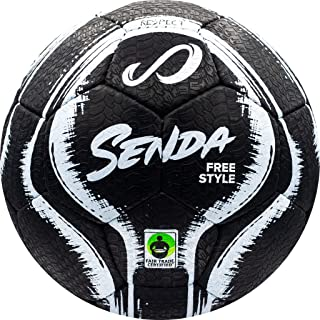 Senda Street Soccer Ball, Fair Trade Certified, Black/White, Size 4 (Ages 13 & Up)