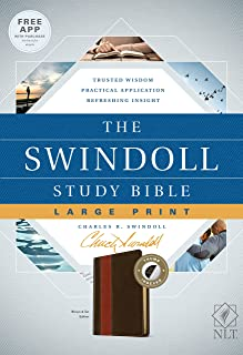 The Swindoll Study Bible NLT, Large Print (LeatherLike, Brown/Tan, Indexed)