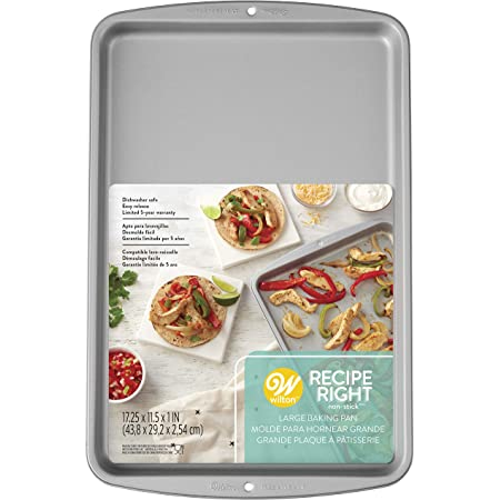 Wilton Recipe Right Non Stick Cookie/Jelly Roll Pan 17.25 inch x 11.5 inch x 1 inch W2105968 (3-Pack)