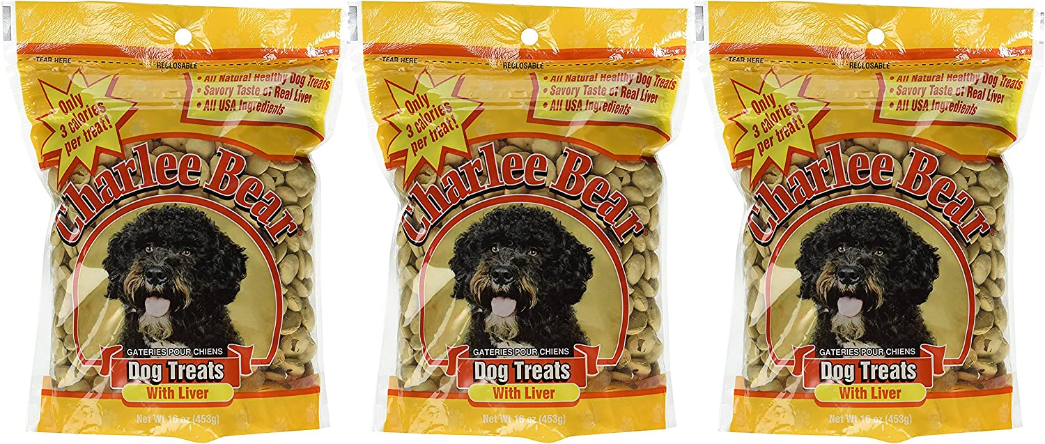 Charlee Bear 840235167921 Dog Treats with Liver 3 Pack