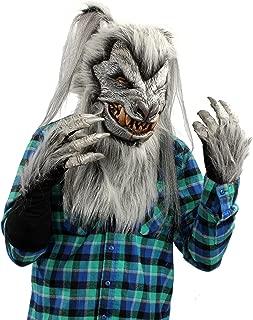 Silver Deluxe Wolf (Werewolf) Costume Kit