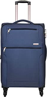 Murano Polyester 24 inches Navy Blue Hardsided Cabin Luggage (9120013_J)