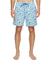 Mr. Swim - Leafy Floral Printed Dale Swim Trunk