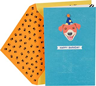 Hallmark Birthday Greeting Card from the Dog (Happy Barkday)