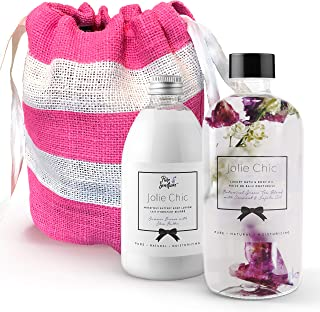 Body Lotion Gift Sets for Women – Bath Oil Set Gifts for women – Vegan Moisturizer Body Oil – Scented Spa Gift