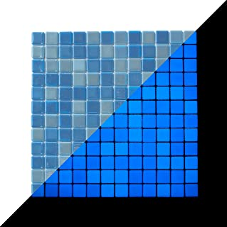 Lucedentro Glow in the dark Glass Tile - Opus One OCEAN BLUE - 1 sq. meter box (10 sheets)