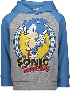 SEGA Sonic The Hedgehog Half-Zip Long Sleeve Fleece Hoodie