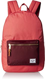 Herschel Settlement Backpack with 15'' Laptop Sleeve and Front Storage Pocket, Mineral Red/Plum, Classic 23L