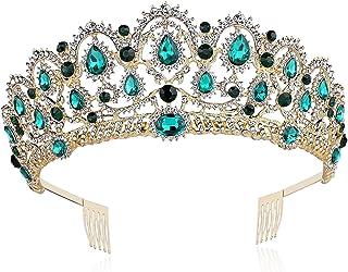 BABEYOND Crystal Queen Crown Birthday Tiara Prom Pageant Quinceanera Crown Tiara Rhinestone Wedding Princess Tiara Headban...