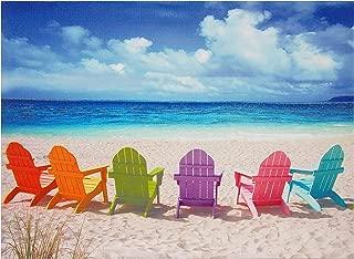 Oriental Furniture Beach Chairs Canvas Wall Art