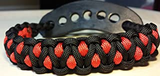 Muddy River Gear Archery Bow Wrist Sling Black and Red Caged
