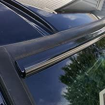 TRUE LINE Automotive DIY Black Automotive Windshield Rain Gutter Guard Deflector Strip