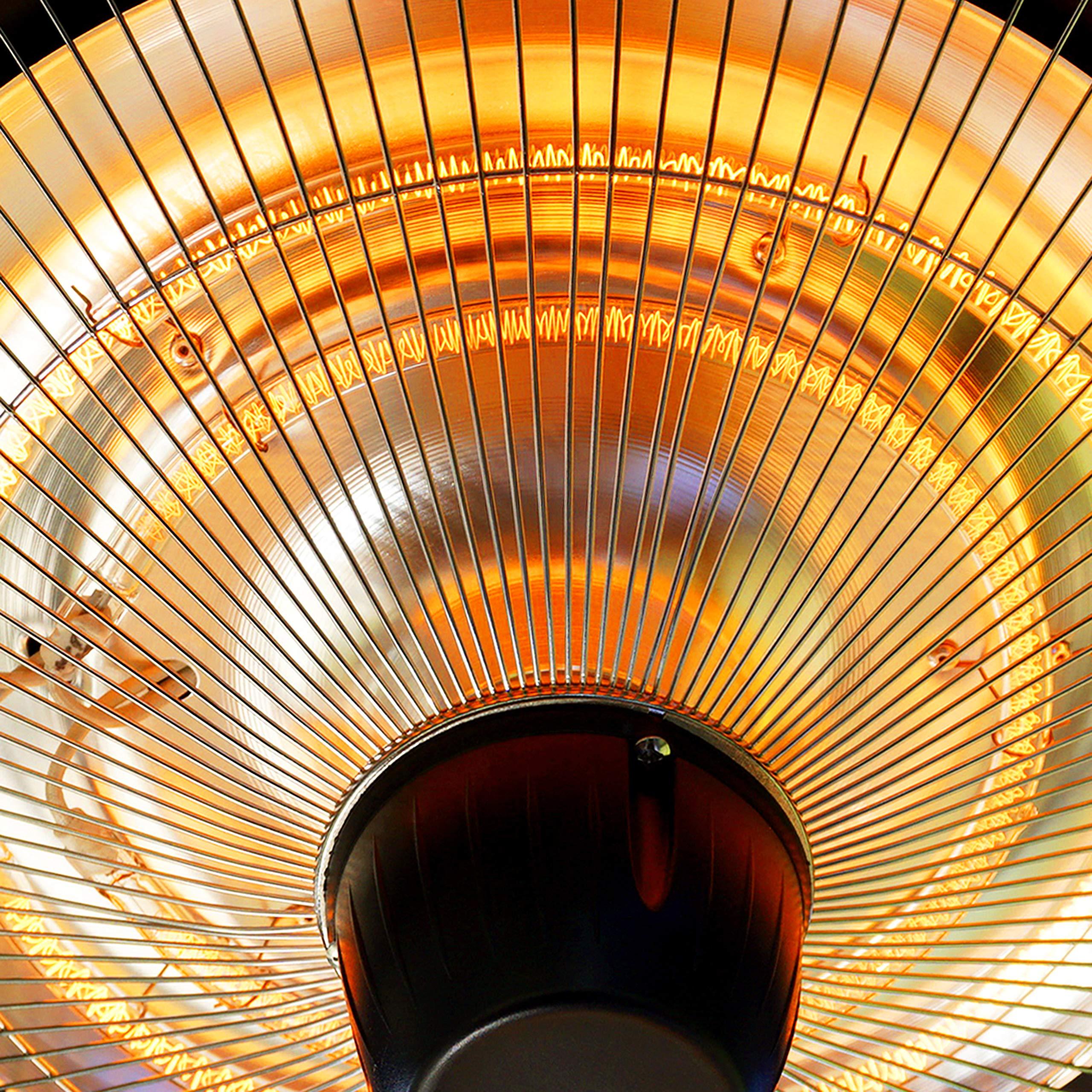 DONYER POWER - Calentador eléctrico para Patio (1500 W, Montaje en Techo, Uso en Interiores o Exteriores): Amazon.es: Jardín