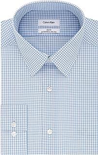 Men's Dress Shirt Non Iron Stretch Slim Fit Check