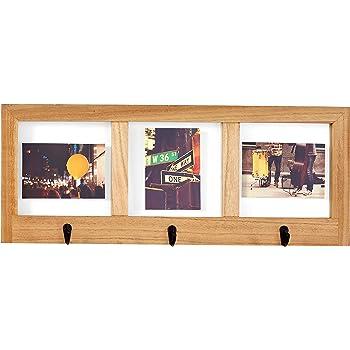 "Amazon Brand – Stone & Beam Modern Windowpane Wood Picture Frame, 25""H, Natural And Black"