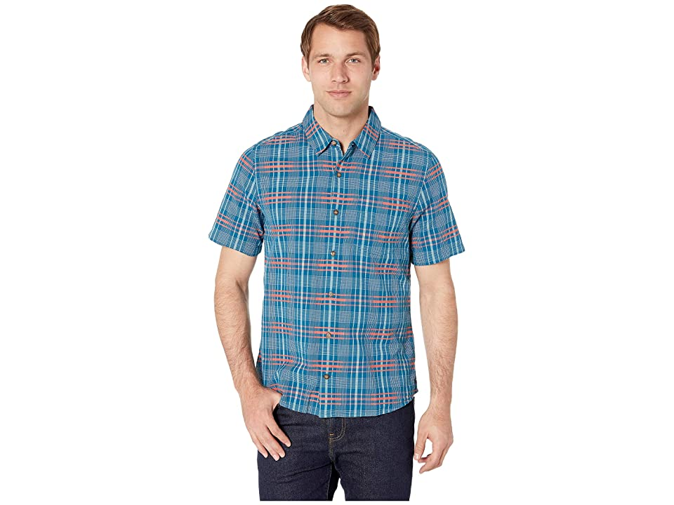 Toad&Co Airboat Short Sleeve Shirt (Poseidon) Men