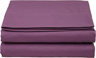 Cathay Luxury Silky Soft Polyester Single Flat Sheet, King Size, Purple