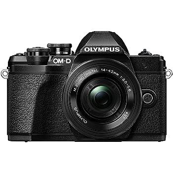 Olympus OM-D E-M10 Mark III Kit, Micro Four Thirds Systemkamera (16 Megapixel, Bildstabilisator, elektronischer Sucher, 4K-Video) + M.Zuiko 14-42mm EZ Zoomobjektiv, schwarz