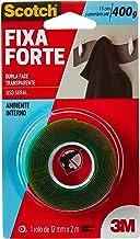 Fita Dupla Face 3M, Scotch, Fixa Forte, Transparente, 12 mm x 2 M