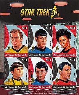 "Star Trek 50th Anniversary Spock, Captain Kirk, Scotty, Uhura, Chekov, Doctor Leonard ""Bones"" McCoy - Collectible Postage Stamps"