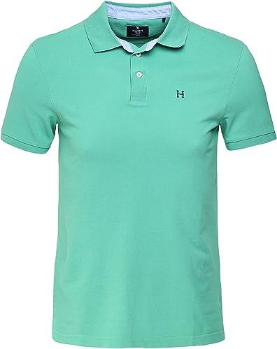 Hackett Hommes Slim Fit Bateau Nager Garniture Polo Shirt Vert