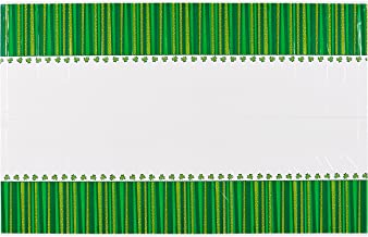 "American Greetings St. Patrick's Day Plastic Table Cover, 54"" x 96"", Party Supplies, Green"