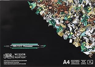 Winsor & Newton 6002004 - Pack de 50 hojas de papel para rotuladores, A4, color blanco