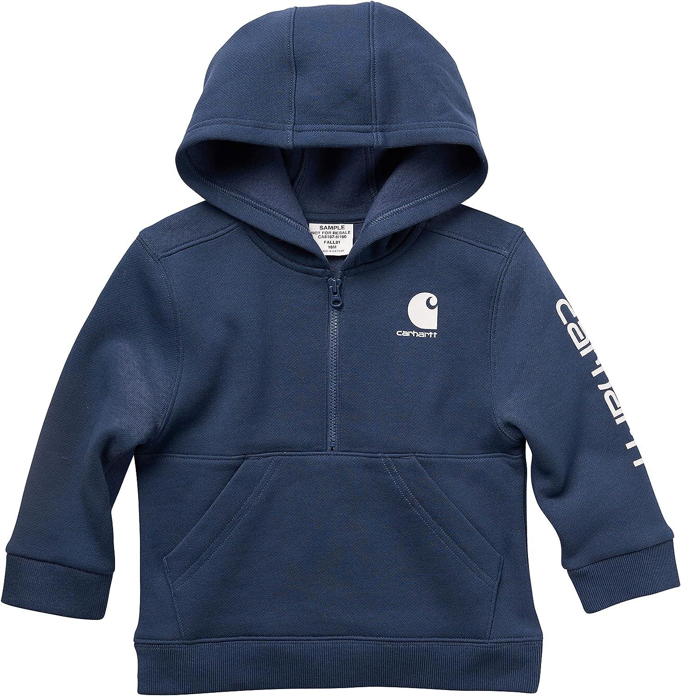 Carhartt Baby Boys' Knit Long Sleeve Hoodneck Sweatshirt