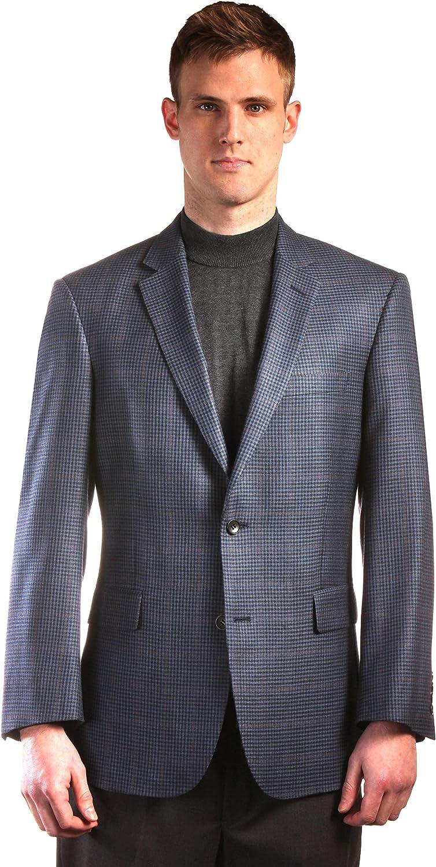 Jean-Paul Germain Blue Check Classic Fit Sportcoat