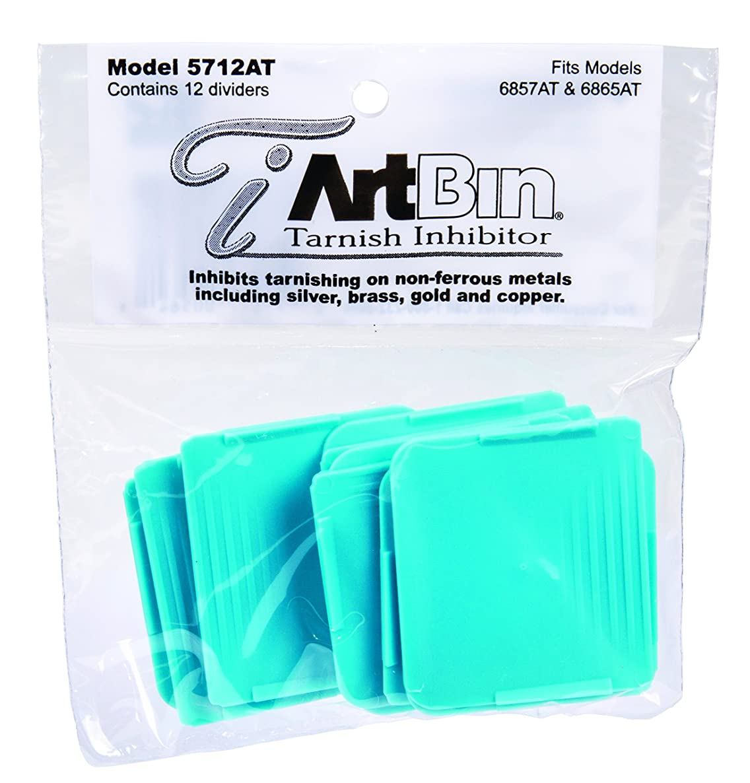 ArtBin Zerust Anti-Tarnish Divider Packs- Fits 6857AT, 6865AT 12/Pk. Teal,  5712AG
