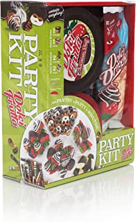 Dolci Frutta Party Kit with Chocolate and White Chocolate Microwaveable Shells and Drizzlers, Nut-Free, Gluten-Free