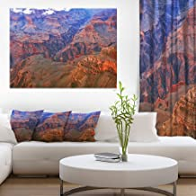 Blue and Red Grand Canyon View Landscape Artwork Canvas