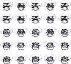 Beistle S88881BKS50AZ25 HNY Bird of Paradise Tiaras 25 Piece, OSFM, Black/Silver/White