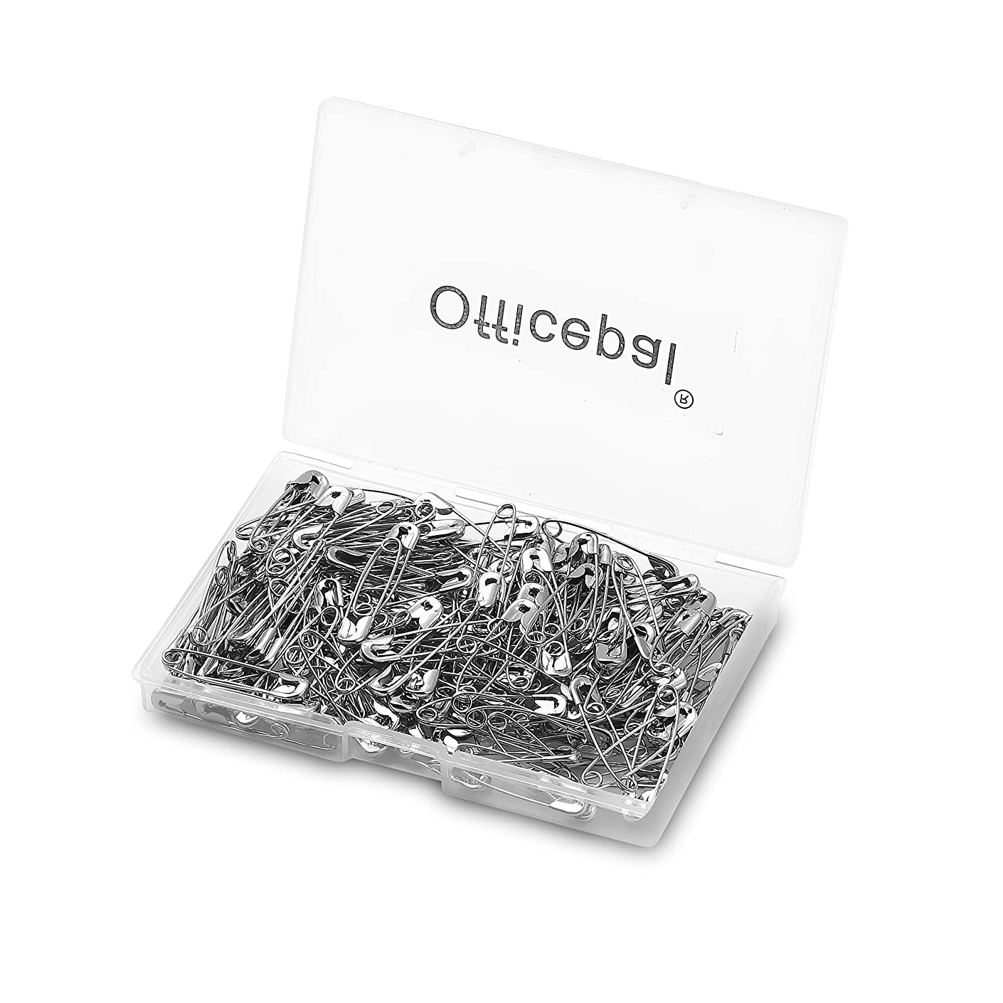 Officepal Premium 1.06 inches 27mm Quality Safety Pins- Top 600-Count – Durable, Rust-Resistant Nickel Plated Steel Set- Best Sewing Accessories Kit for Baby Clothing, Crafts and Arts
