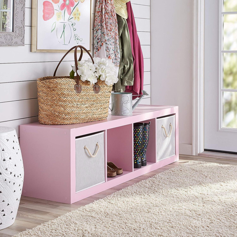 4, Gray. Better Homes and Gardens 4-Cube Organizer Storage Bookcase Bookshelf
