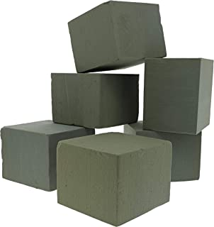 Bright Creations 6-Pack Square Floral Wet Foam Bricks for Flowers, 5 Inches