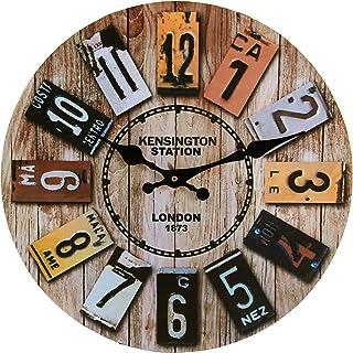 Horloge Murale Bois, 14'' Horloge Murale Geante, Horloge Vintage, Horloge Murale Design Moderne, Grande Horloge Murale, Si...