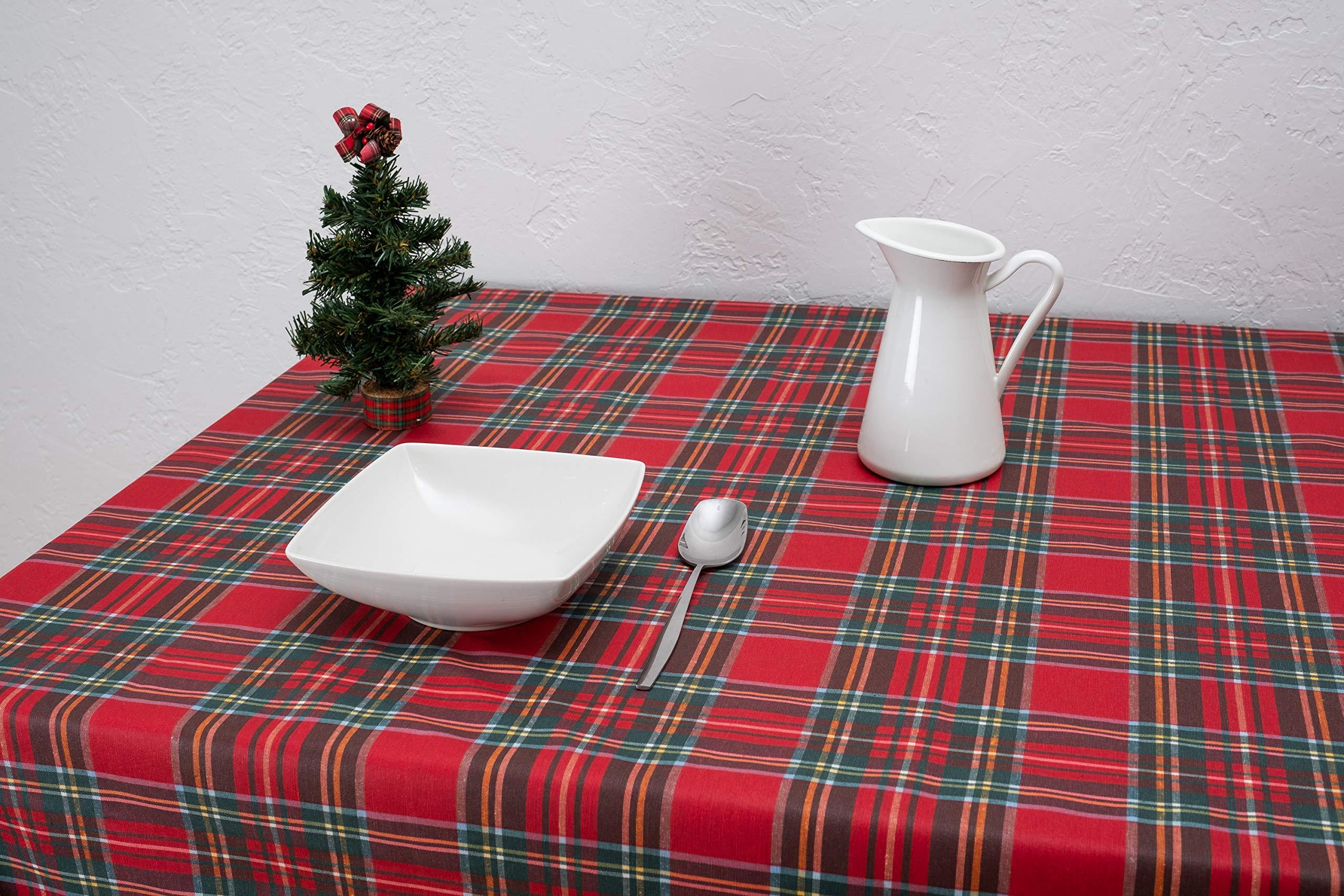 Boheme Snow Mantel Navidad, ALGODÓN /50% POLIÉSTER, Rojo, 140 X 350: Amazon.es: Hogar