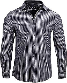 Rock Roll n Soul Men's Fashion Ching-a-Ling Checkered Long Sleeve Button-Up Shirt