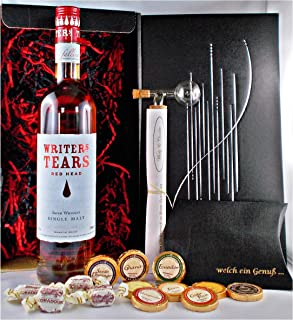 Geschenk Writers Tears Red Head irischer Whiskey  Glaskugelportionierer  Edelschokolade  Fudge