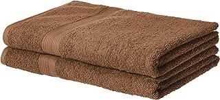 AmazonBasics Fade-Resistant Cotton Bath Sheet Towel - Pack of 2, Acorn Brown
