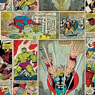70-264 Graham and Brown Marvel Comic Strip Wallpaper Spiderman Iron Man Hulk