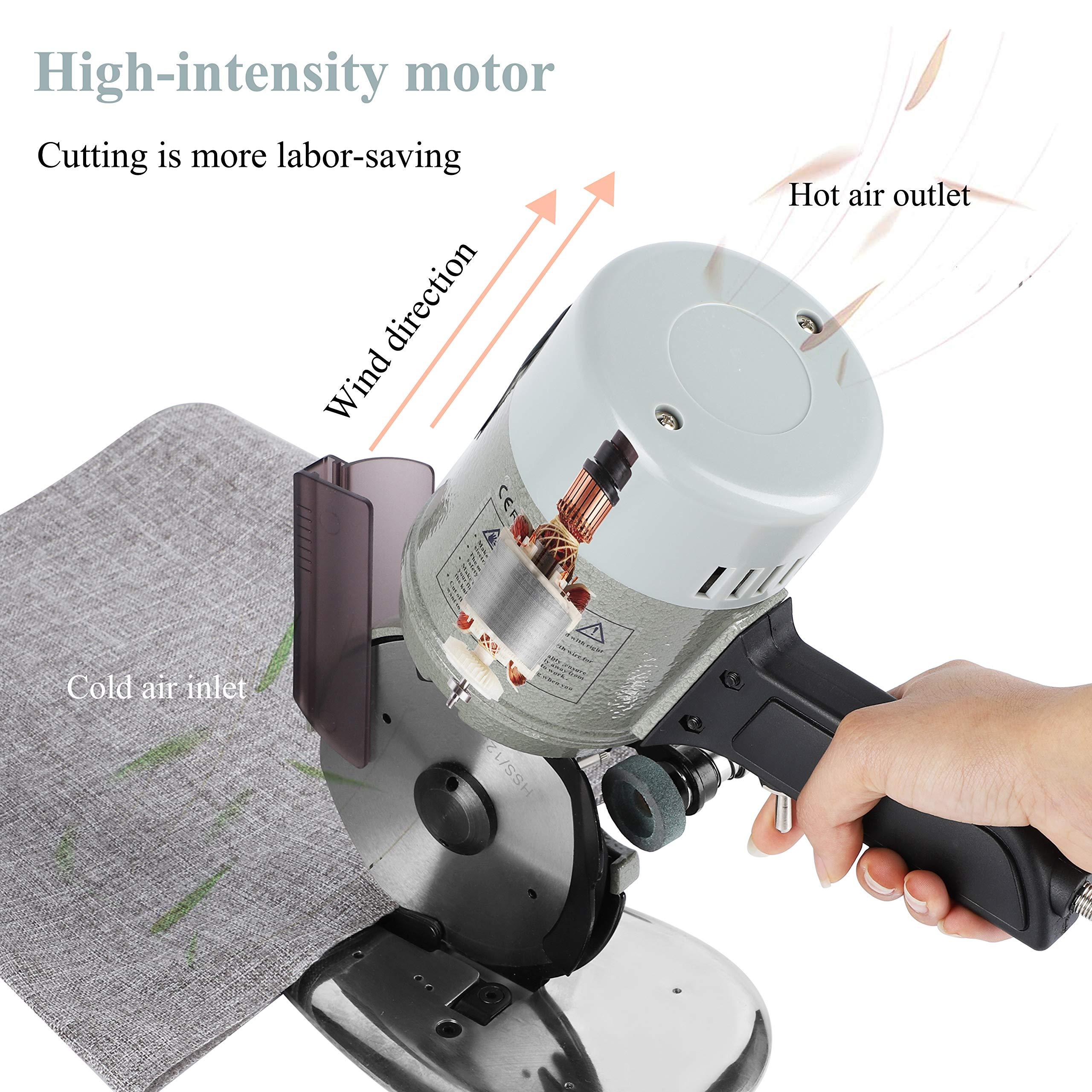 CGOLDENWALL YJ-50 Cortador de Tela Industrial丨20mm Grosor M/áximo de Corte丨Corte Perfecto de Curvas丨Ideal para Textil Cuero Papel con Cuchilla Repuesto