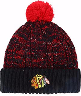 OTS NHL Women's Brilyn Cuff Knit Cap with Pom